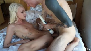Emma Hix Perfect Teen Pussy Cumming on Thick Cock